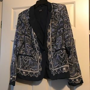 Navy, Blue and White Blazer